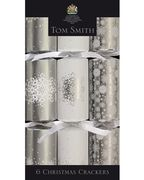 Tom Smith Silver Christmas Crackers 6's