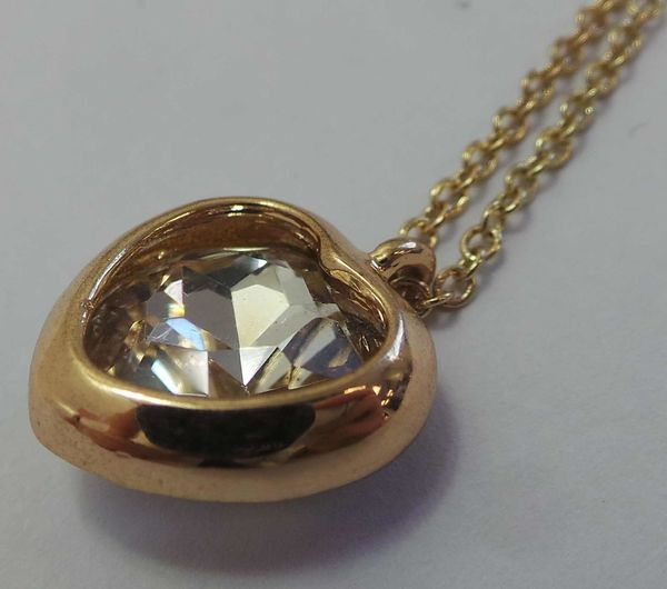 DesignSix Gold Heart Necklace